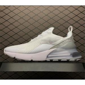 Men's/Women's Nike Air Max 270 Metallic Summit White Free Shipping