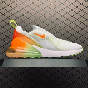 Men's/Women's Nike Air Max 270 Summer Gradient White Volt Orange