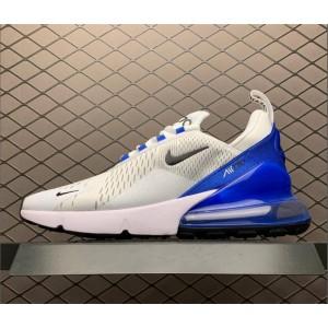 Men's Nike Air Max 270 White Blue Tennis AH8050-110