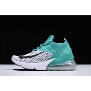 Women's Nike Air Max 270 Flyknit Clear Emerald Black-Pure