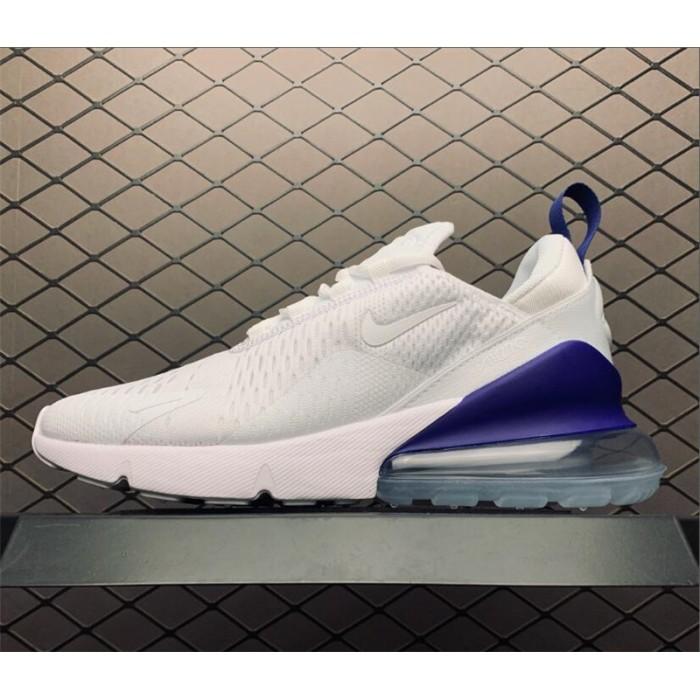 Men's Summer Shoes Nike Air Max 270 HQ Trivia White Blue Size