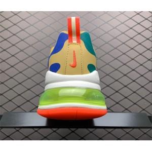 Women's Nike Air Max 270 React Desert Sand Volt Blue