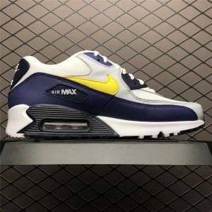 Men's Nike Air Max 90 Michigan White Blue Recall Pure Platinum