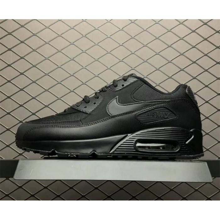 Men's All Black Nike Air Max 90 Essential