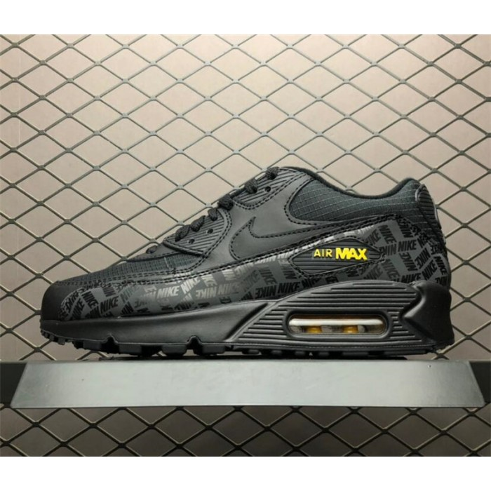 Men's Nike Air Max 90 Essential Black Yellow-Amarillo