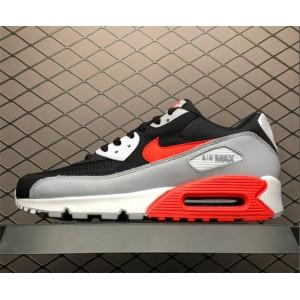 Men's Nike Air Max 90 Infrared Wolf Grey Black White
