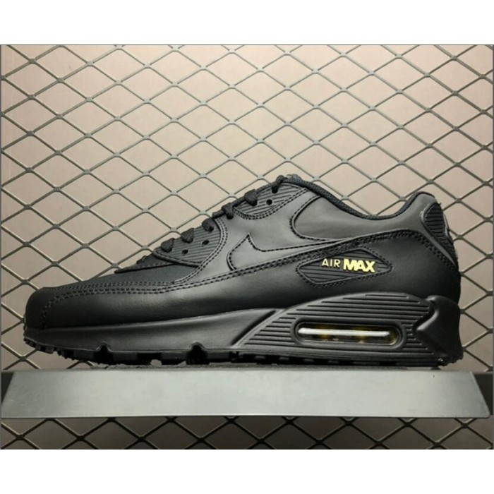 Men's Nike Air Max 90 Shoes Premium Black Gold