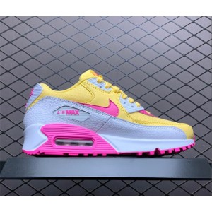 Women's Nike Air Max 90 Topaz Gold White-Laser Fuchsia