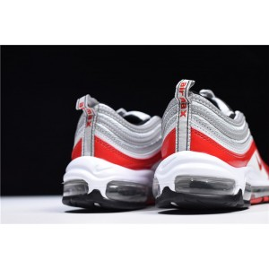 Men's/Women's Nike Air Max 97 OG Pure Platinum University Red-White