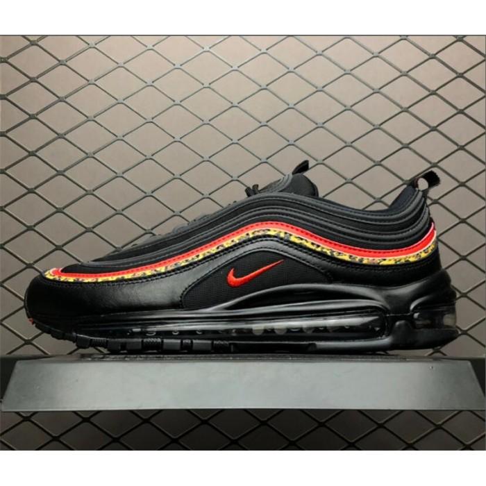 Men's/Women's Nike Air Max 97 Leopard Pack Black Red BV6113-001