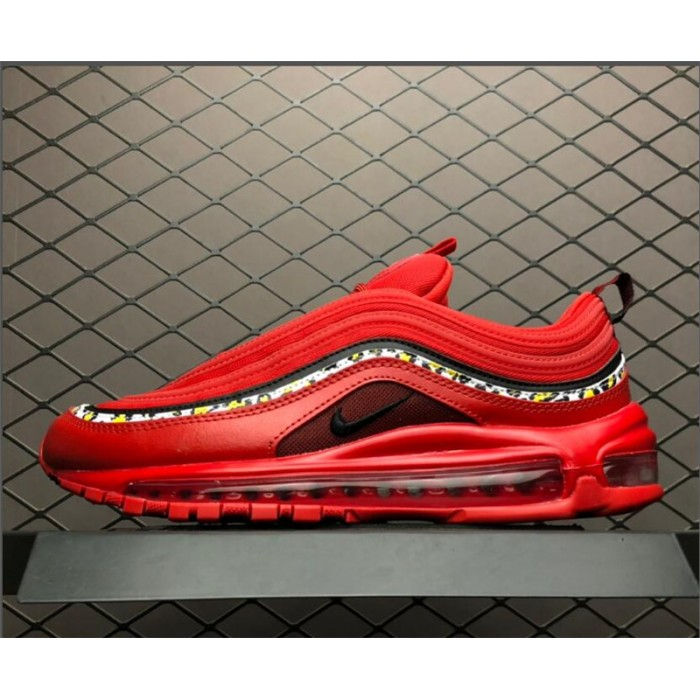 Men's/Women's Nike Air Max 97 Red Leather Essential For AQ0655-121