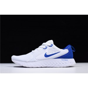 Men's/Women's Nike Epic React Flyknit White Loyal Blue