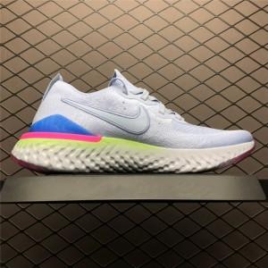 Men's Nike Epic React Flyknit 2 Hydrogen Blue Sapphire Hyper Pink