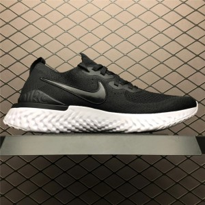 Men's/Women's New Nike Epic React Flyknit 2 Black White Shoes