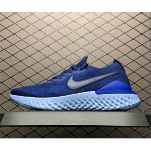 Men's Nike Epic React Flyknit 2 Blue Void Indigo Force-Black