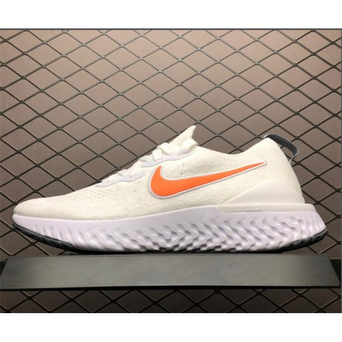 Men's Nike Epic React Flyknit 2 Pure Platinum Wolf Grey-White