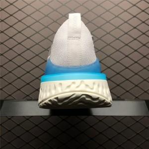 Men's Nike Epic React Flyknit 2 Vast Grey Blue Sail
