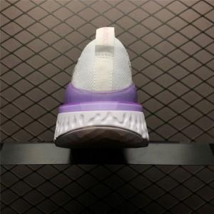 Women's Nike Epic React Flyknit 2 White Pink Foam BQ8927-101