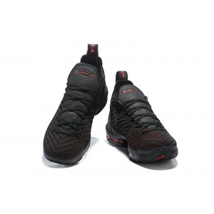 Men's Nike LeBron 16 Bred Black and Red