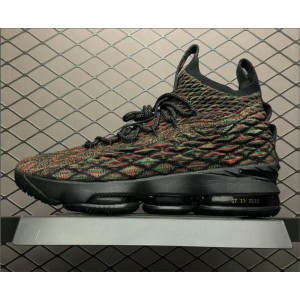 Men's Nike LeBron 15 BHM Black Multi-Color