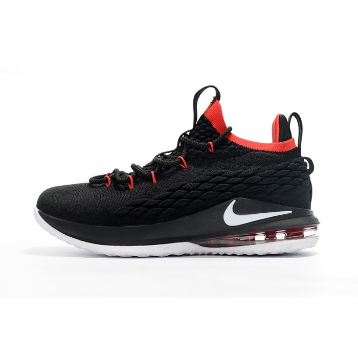Men's Nike LeBron 15 Low Black White Red