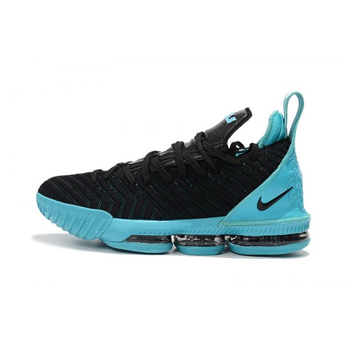 Men's Nike LeBron 16 Black Jade Sneakers