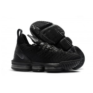 Men's Nike LeBron 16 Triple Black Hot Sale