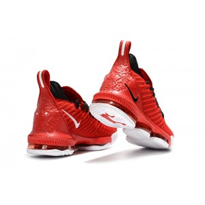 Men's Nike LeBron 16 University Red Black-White