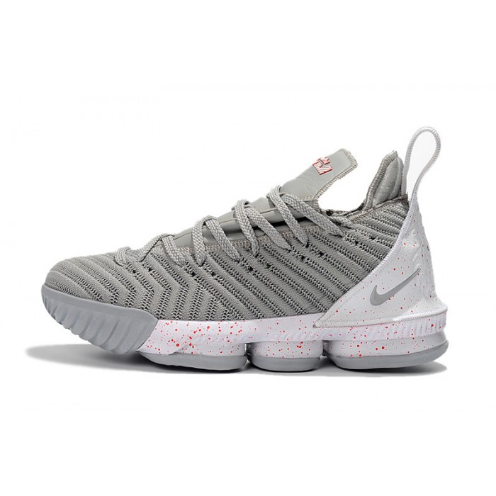 Men's Nike LeBron 16 Wolf Grey White