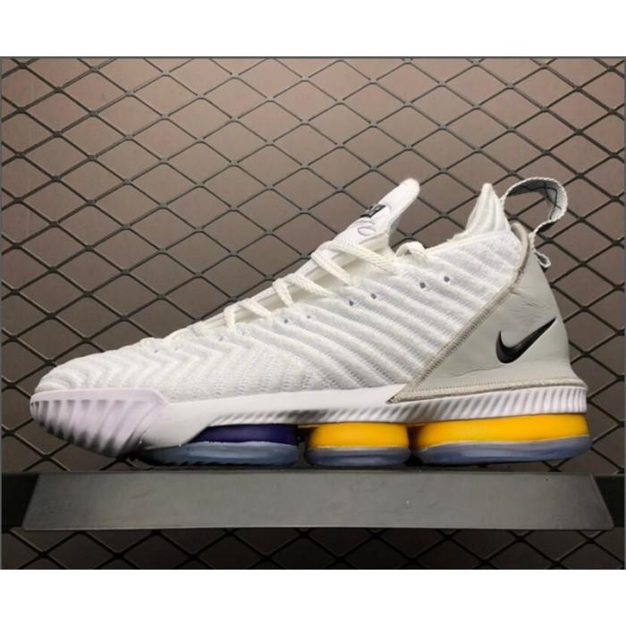 Men's Nike LeBron 16 White Grey-Orange