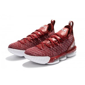 Men's Nike LeBron 16 Wine Red Wine White