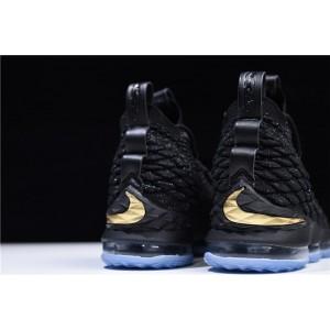 Men's Nike James LeBron 15 EP Black Metallic Gold