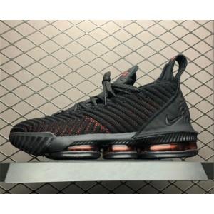 Men's Nike LeBron 16 Fresh Bred Black University Red