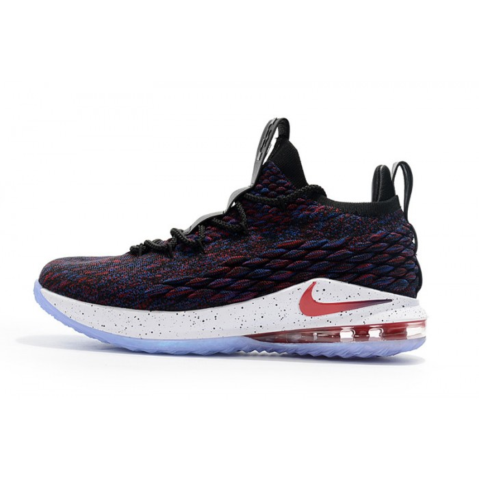 Men's Nike LeBron 15 Low Supernova Multicolor University Red-Black-White