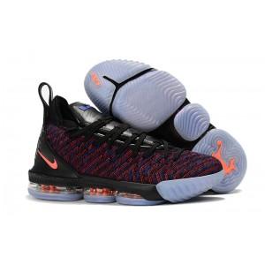 Men's Nike LeBron 16 Black Multicolor-Orange