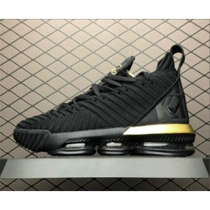 Men's Nike LeBron 16 Im King Black Gold To BQ5970-007