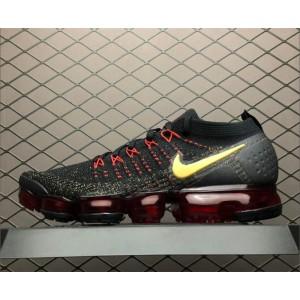 Men's Nike Air VaporMax 2.0 CNY Black Metallic Gold-University Red