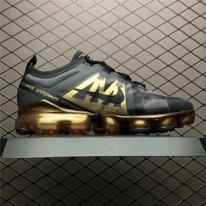Men's Nike Air VaporMax Run Utility Black Metallic Gold