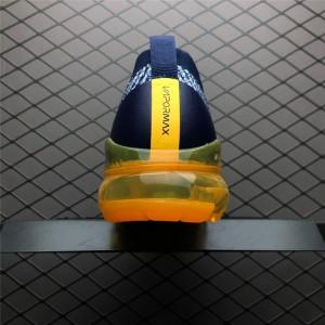Men's Nike Vapormax Flyknit 3 Navy Grey-Orange On Sale
